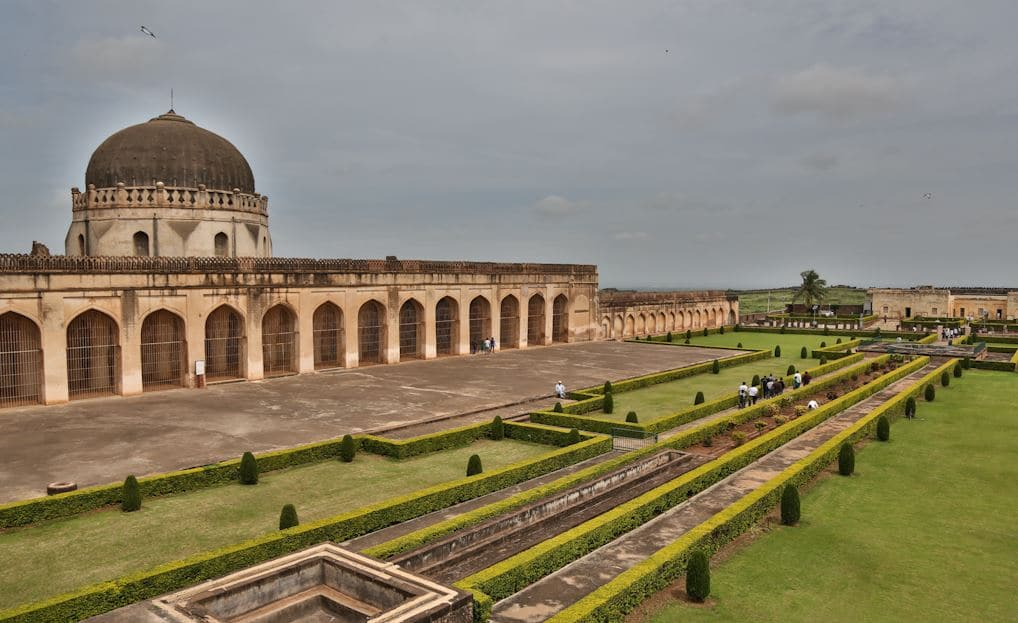 Solah Khamba Mosque situated inside the Bidar fort is a popular tourist destination for weekend getaways around Hyderabad.